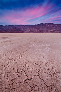 Post-sunset sky on the Clark Dry Lake in Anza-Borrego State Park in California