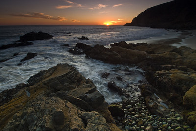 Sunet along the Pacific Coast Highway near Point Mugu and Ventura, CA.