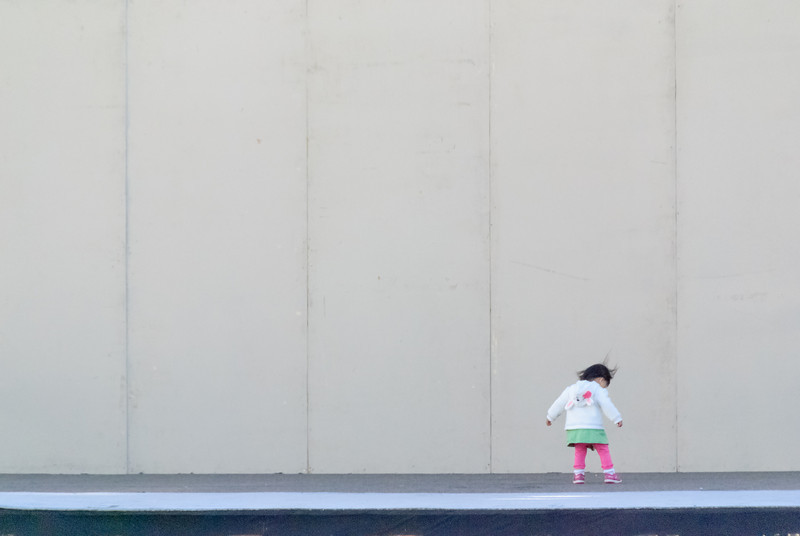 A child plays on stage at the Cherry Blossom Festival in Japantown (San Francisco, CA, US - 04/14/13, 5:57:48 PM)