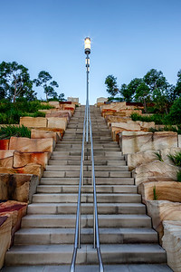 Stepping up. Barangaroo Reserve Steps.