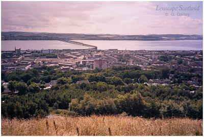 Tay Rail Bridge from the summit of Dundee Law (2000)