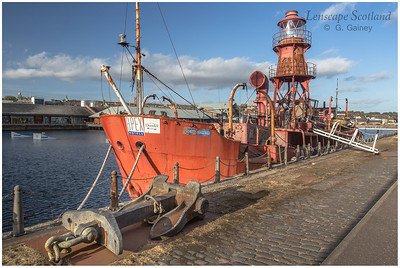 Lighthouse vessel, Victoria Dock (1)