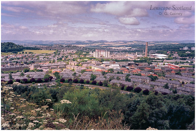 View west from summit of Dundee Law (2000)