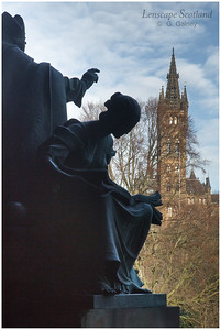 University of Glasgow from Kelvingrove Art Gallery and Museum