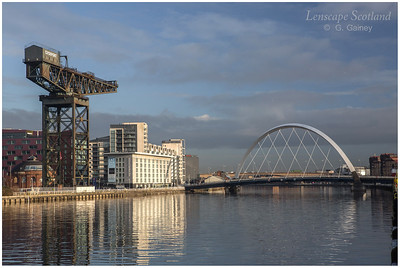 Finnieston Crane and the Clyde Arc bridge (1)