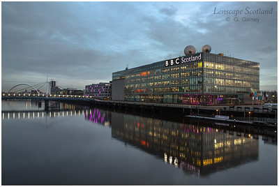 BBC Scotland HQ from Millennium Bridge