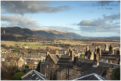 Wallace Monument and Ochil Hills from Stirling Castle