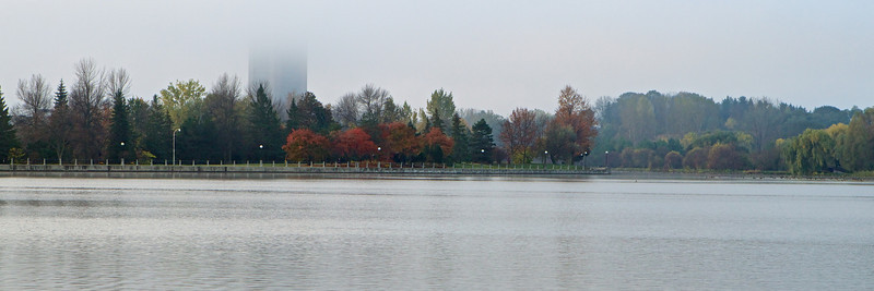 Looking towards Carleton University from Dow's Lake.