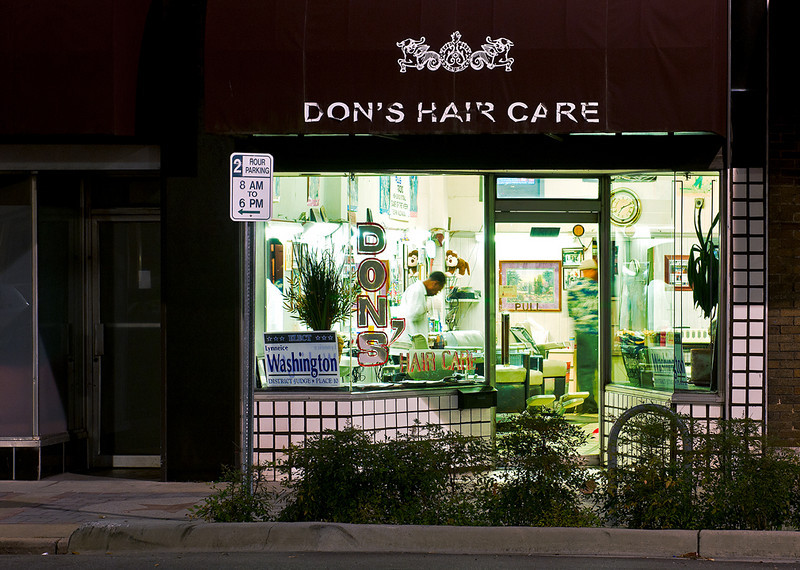 """""""Don's Hair Care""""<br /> Honorable Mention - Projected Images<br /> Doug Stocks"""