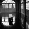 """Bench and Windows""<br /> 1st Place - Black & White Prints<br /> Ron Clemmons"