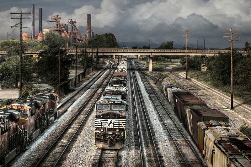 """Trains From 22nd Street Viaduct""<br /> 1st Place - Alternative Prints<br /> Ken Boyd"