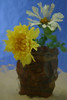 """Flowers In A Mayan Vase""<br /> Honorable Mention - Digital Projection<br /> Robert Caldwell"