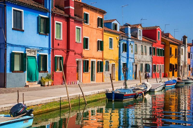 Burano Houses and Boats