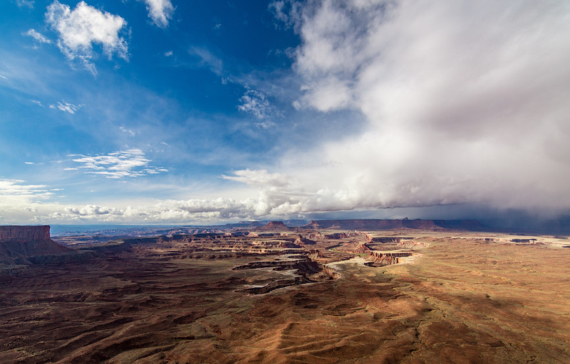 Distant Storm from the Green River Overlook