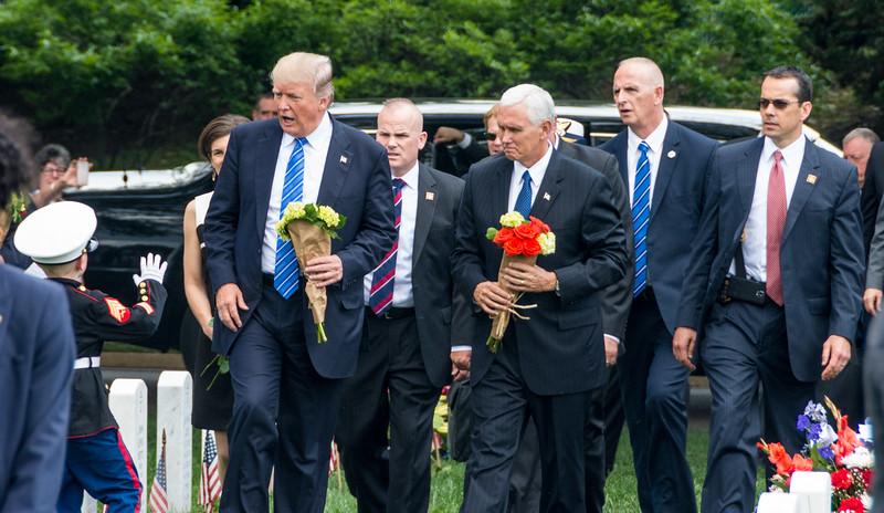 2017 Trumpy at Arlington National Cemetery