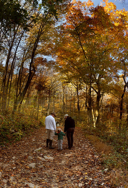 """Hiking at Bucks Pocket""<br /> Honorable Mention-Color Prints<br /> Ken Gables"