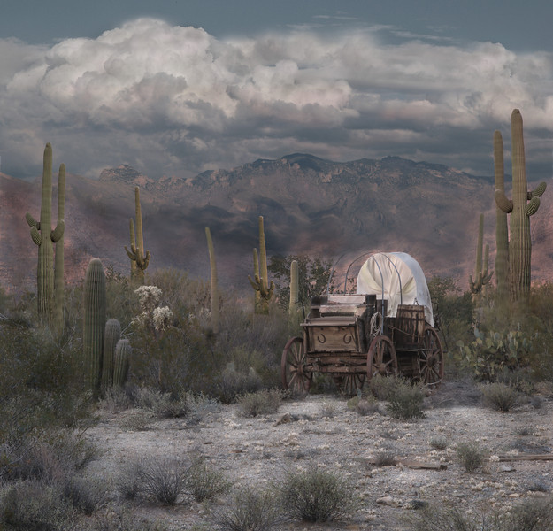 """""""Covered Wagon""""<br /> 1st Place - Digital Projection<br /> Ken Boyd"""