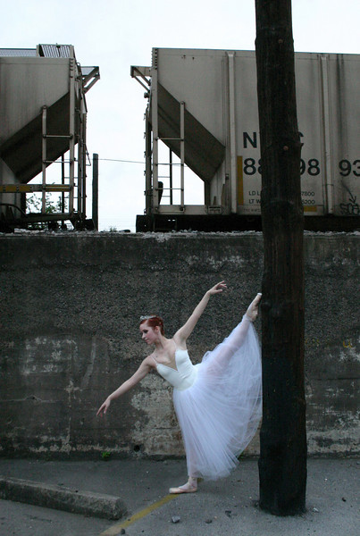 """""""Ballerina and Train""""<br /> 2nd Place - Projected Images<br /> Robert Caldwell"""