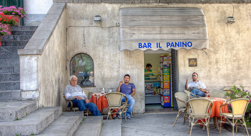"""""""Bar Il Panino""""<br /> Honorable Mention - Digital Projection<br /> Terry Yarbrough"""