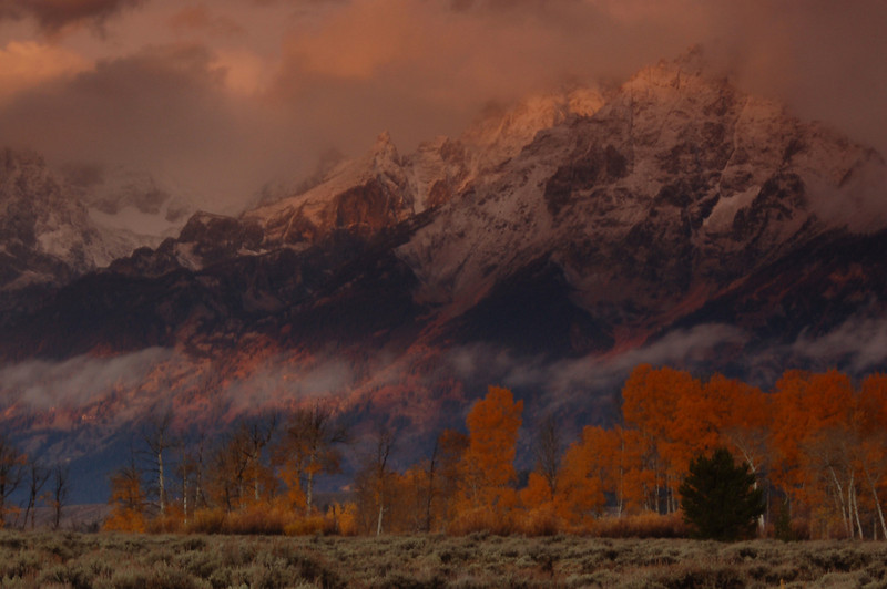 """""""Storm In The Tetons""""<br /> 1st Place - Digital Projection<br /> Jeanne Connell"""