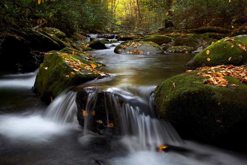 """Mountain Stream""<br /> Honorable Mention - Digital Projection<br /> John Elrod"