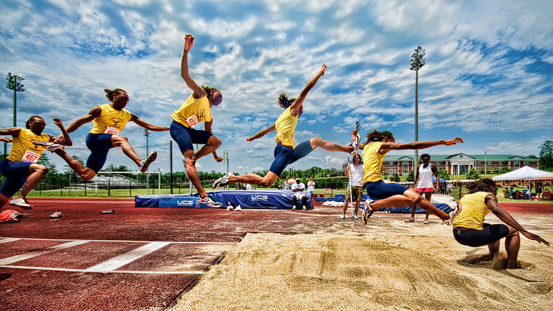 """The Long Jump""<br /> Honorable Mention - Projected Images<br /> Delos Johnson"