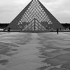 """Pyramids in Paris""<br /> 2nd Place - Black & White Prints<br /> Ron Clemmons"