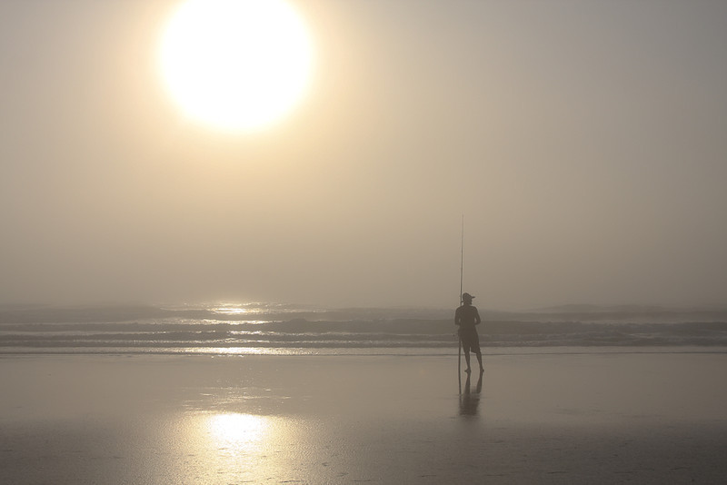 """""""Foggy Morning Fisherman""""<br /> Honorable Mention - Projected Images<br /> Penny Wegener"""