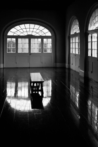 """""""Bench and Windows""""<br /> 1st Place - Black & White Prints<br /> Ron Clemmons"""