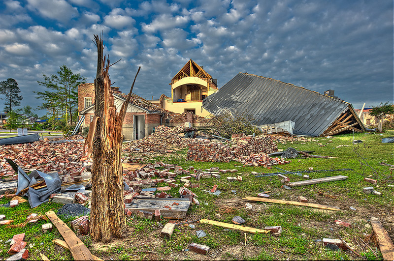 """""""Tornado Aftermath""""<br /> Honorable Mention - Projected Images<br /> Steve Grunfeld"""