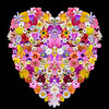 """Heart Of Flowers""<br /> 2nd Place - Alternative Prints<br /> Terry Yarbrough"