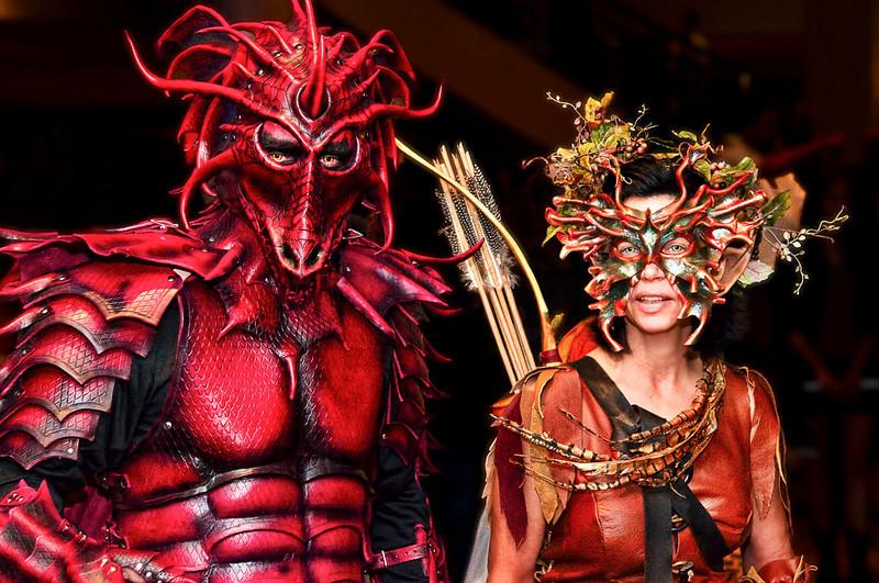 """Dragon Man & Lady""<br /> Honorable Mention - Color Prints<br /> Delos Johnson"