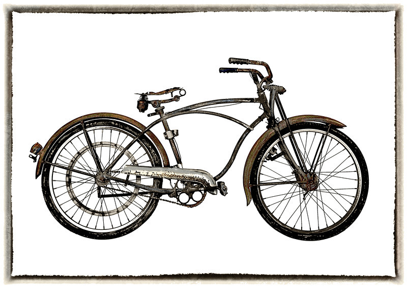 """Rusty Bicycle""<br /> 1st Place - Alternative Prints<br /> Ken Boyd"