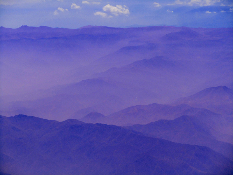 """The Andes At 30,000 Feet""<br /> Honorable Mention - Digital Projection<br /> George Ritchey"