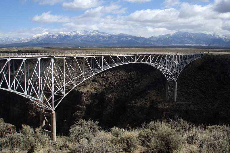 """Rio Grande Gorge Bridge""<br /> Honorable Mention - Projected Images<br /> Brenda Miller"