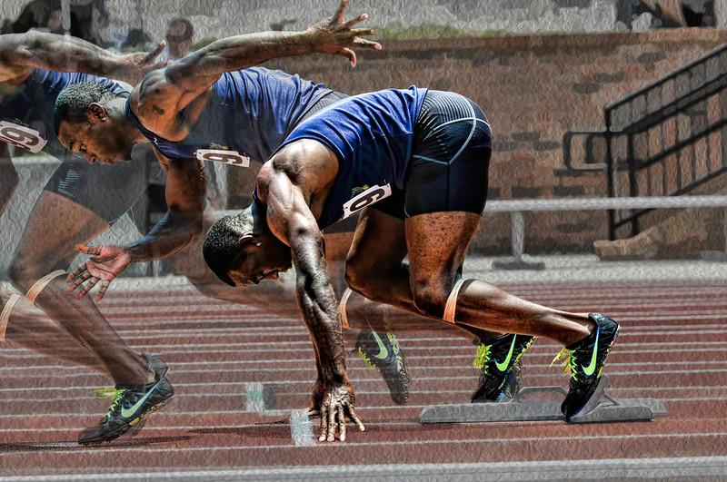 """Sprinter""<br /> Honorable Mention - Digital Projection<br /> Delos Johnson"