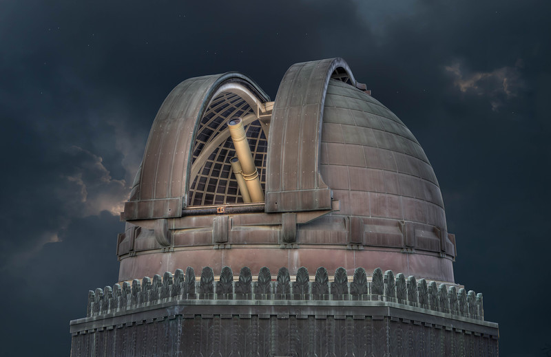 """Griffith Observatory""<br /> 3rd Place - Alternative Prints<br /> Ken Boyd"