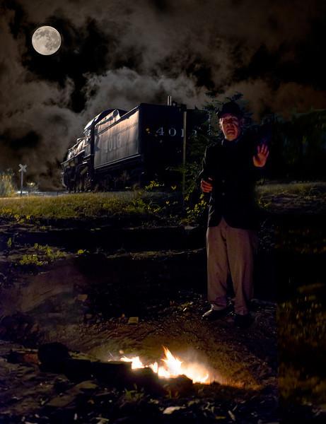 """Railroad Hobo""<br /> Honorable Mention - Digital Projection<br /> Ken Boyd"