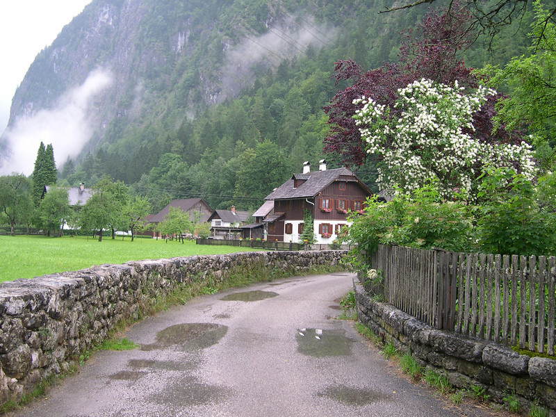 """""""Country Lane And Home Near Hallstatt, Austria""""<br /> Honorable Mention - Color Prints<br /> Larry Durham"""