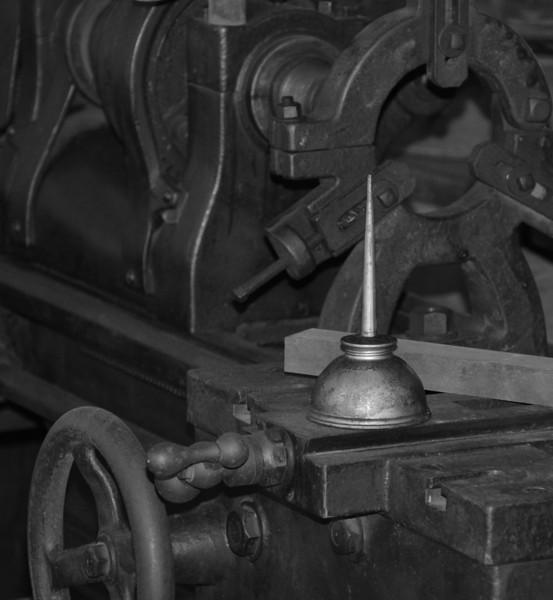 """Mr. Edison's Oil Can""<br /> 3rd Place - Black & White Prints<br /> Larry Durham"