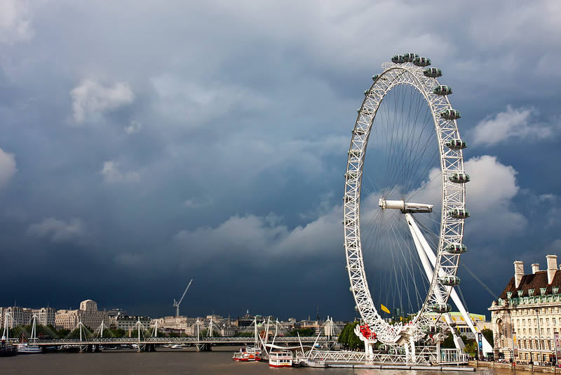 """""""London Eye Of The Storm""""<br /> Honorable Mention - Color Prints<br /> Ron Clemmons"""