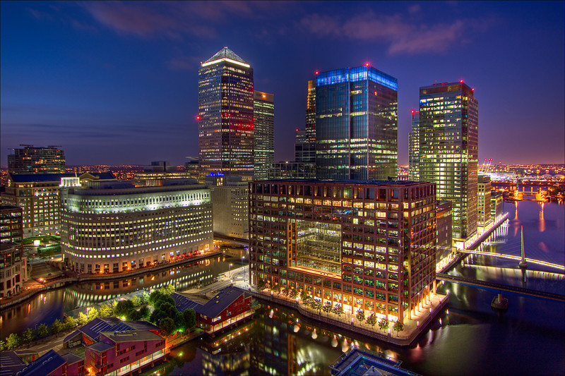 """""""Canary Wharf""""<br /> Honorable Mention - Digital Projection<br /> Terry Yarbrough"""