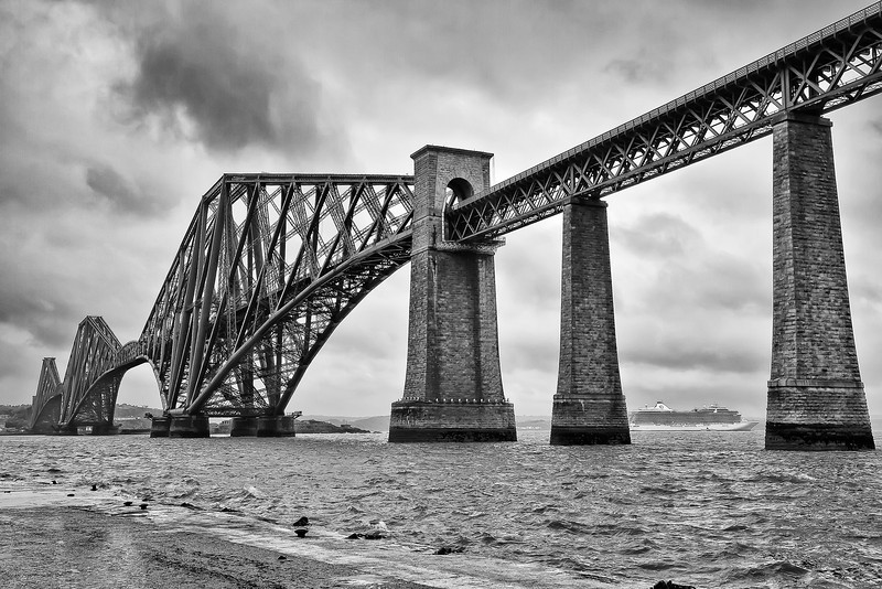 """""""Firth of Forth Rail Bridge""""<br /> Honorable Mention - Black & White Prints<br /> Ron Clemmons"""