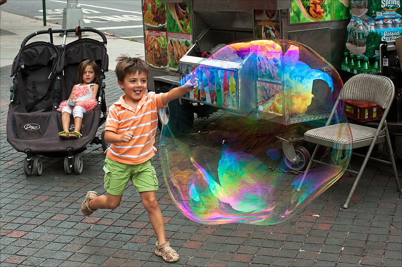 """""""Boy Chases Bubble""""<br /> 3rd Place - Digital Projection<br /> Terry Yarbrough"""