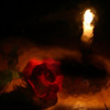 """Rose and Candle""<br /> Honorable Mention - Digital Projection<br /> Robert Caldwell"