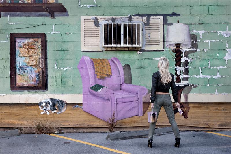 """Mural Painter""<br /> Honorable Mention - Color Prints<br /> Ken Boyd"