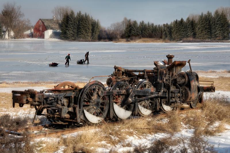 """Ice Fishing""<br /> 2nd Place - Alternative Prints<br /> Ken Boyd"