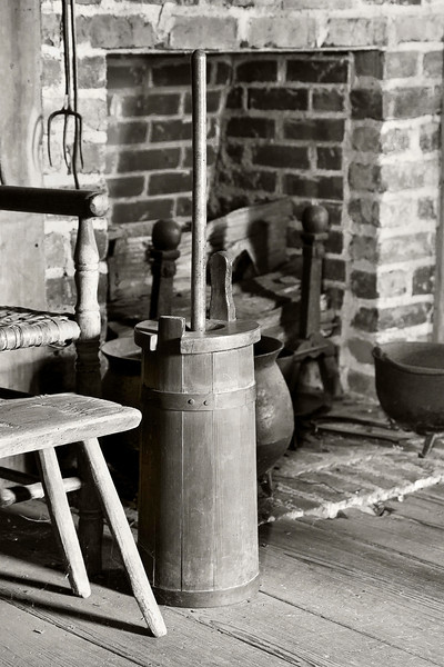"""""""Hearth & Churn""""<br /> 1st Place - Black & White Prints<br /> Ron Clemmons"""