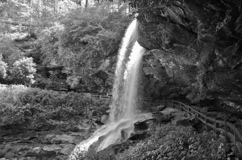 """Dry Falls, North Carolina""<br /> 2nd Place - Black & White Prints<br /> Larry Durham"