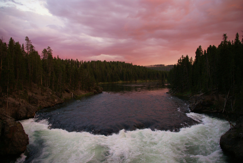 """""""Sunset Yellowstone""""<br /> 3rd Place - Digital Projection<br /> Karen Hurd"""
